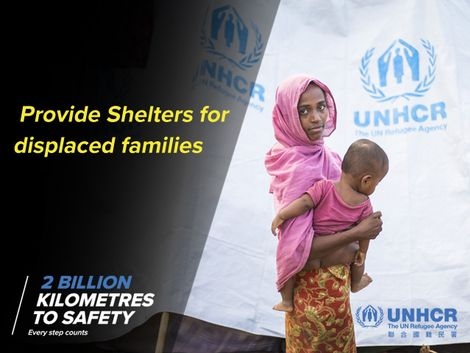 "UNHCR : ""2 BILLION KILOMETRES TO SAFETY"" for refugee shelters"